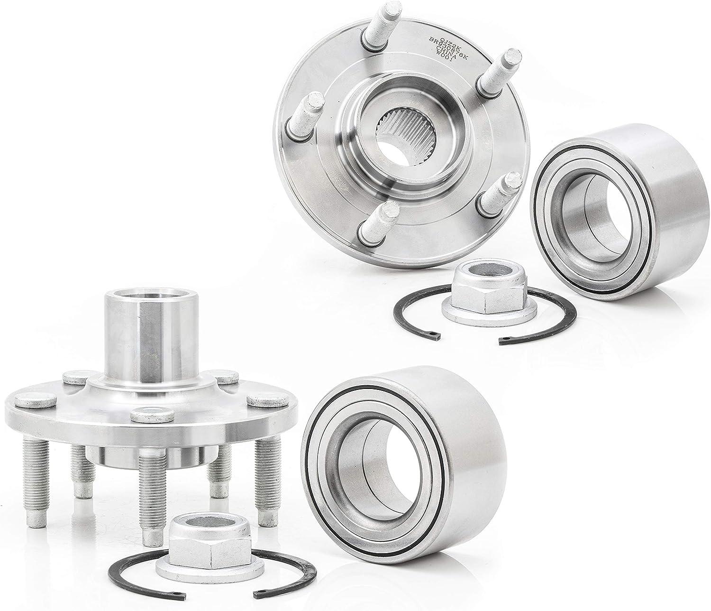 2-Pack Pair Boston Mall BR930876K Sale item FRONT Wheel Kit Hub Com Fixing Bearing
