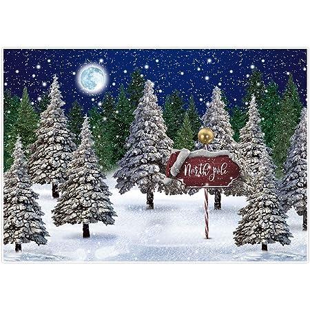 Leowefowa Dreamlike Christmas Backdrop for Photography 5x3ft Vinyl Golden Light Spots Bokeh Xmas Trees Background Christmas Party Banner Child Adult Photo Shoot Props Wallpaper
