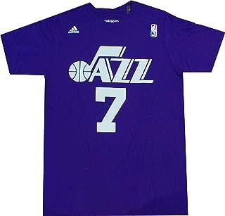 adidas New Orleans Jazz Pete Maravich Throwback Purple T Shirt