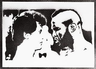 Poster Rocky Balboa y Mister T Grafiti Hecho a Mano - Handmade Street Art - Artwork