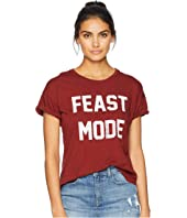 Feast Mode Crew Neck Rolled Short Sleeve Tee