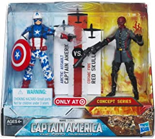 Captain America and Red Skull Exclusive Captain America Action Figure 2 Pack by Hasbro
