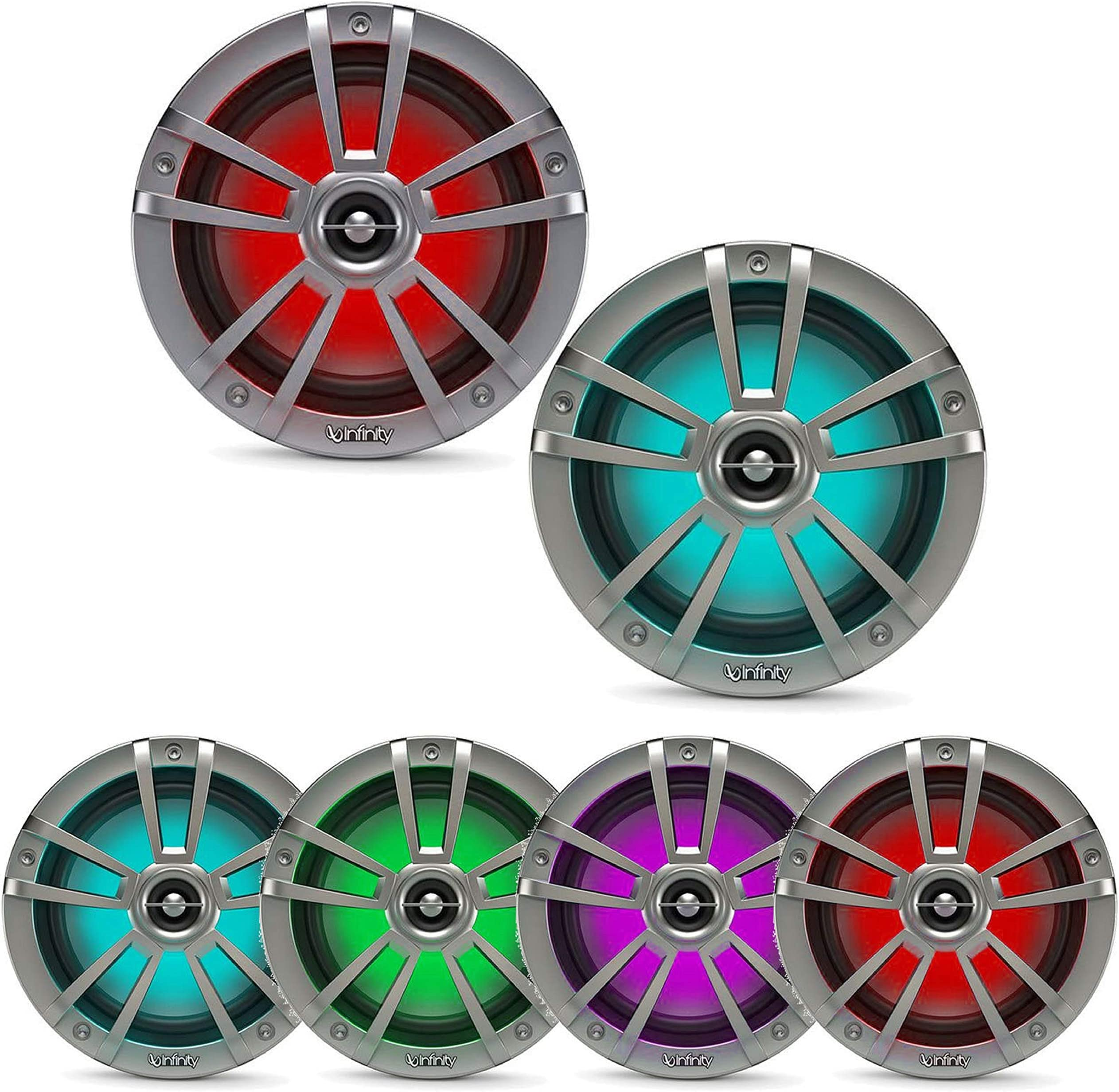 Infinity INF622MLT Two-Way Multi-Element RGB Titanium Marine Speakers - 6.5""