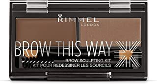 Rimmel London, Brow This Way Eyebrow Sculpting Kit, Medium Brown
