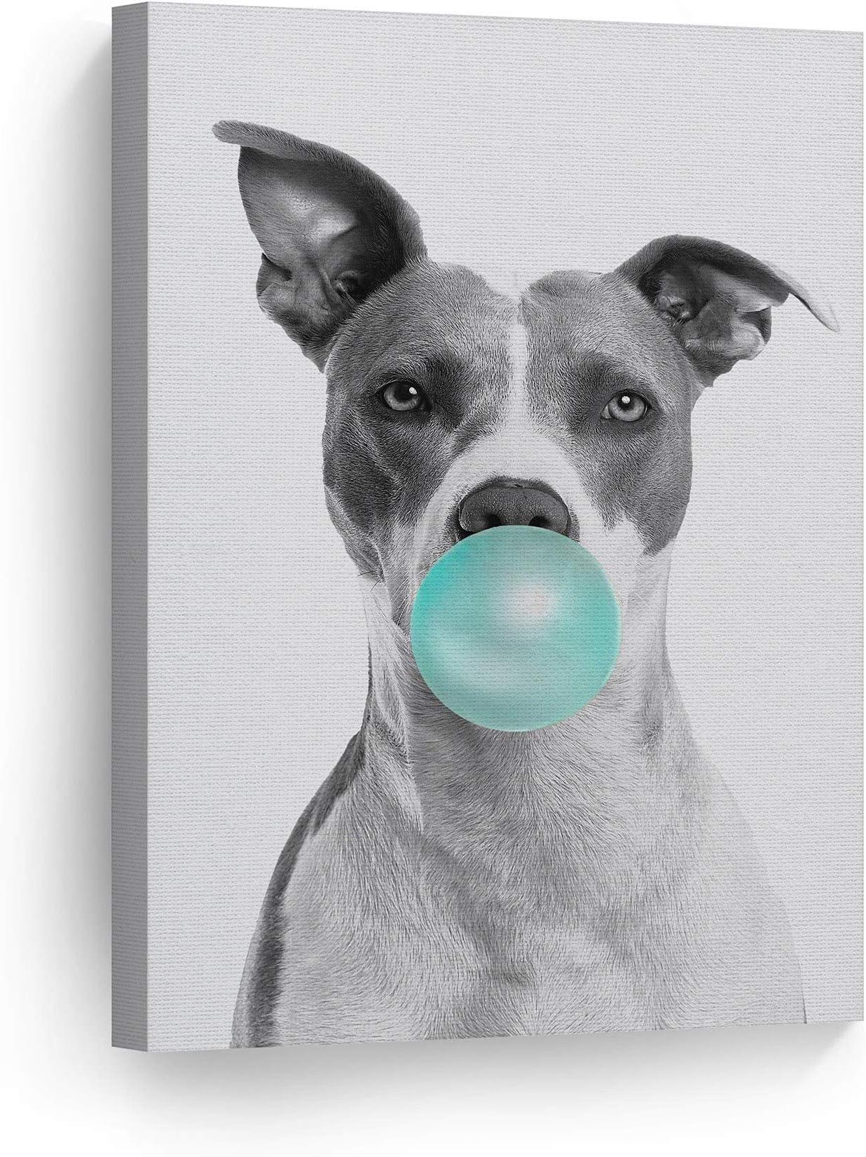 Pit bull Dog Digital Art Jazz Club Print or Canvas