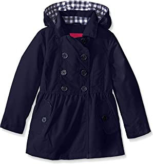 London Fog Girls Brushed Poly Trench Coat