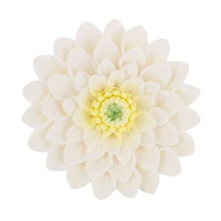 Global Sugar Art Dahlia Sugar Cake Flowers, White, 3 Count by Chef Alan Tetreault