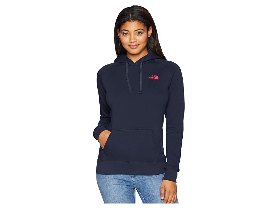 The North Face Red Box Pullover Hoodie (Urban Navy/Raspberry Red) Women