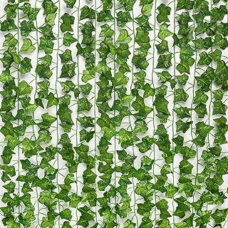 SOMONEY Lierre Artificielle Plantes Guirlande Vigne 15 Pack 105 Ft Exterieur Lierre Artificielle Guirlande Décoration pour...