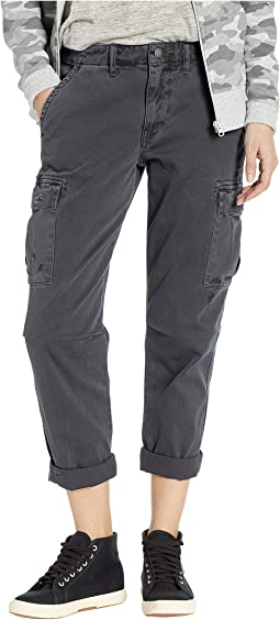 Jane Slim Cargo Pants in Distressed Onyx