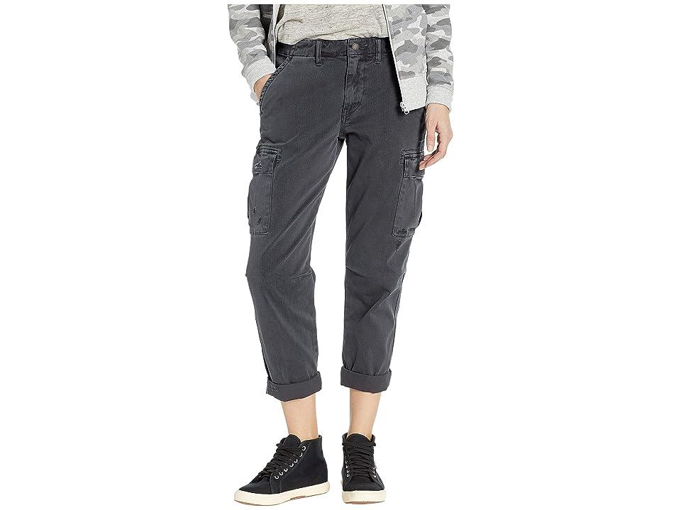 Hudson Jane Slim Cargo Pants in Distressed Onyx (Distressed Onyx) Women