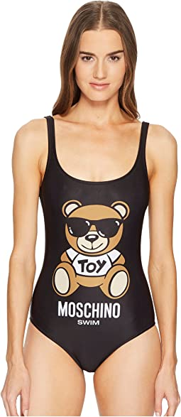 Classic Teddy Bear on Swimsuit