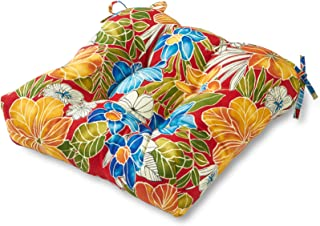 Greendale Home Fashions Outdoor Chair Cushion, 20-Inch, Aloha Red
