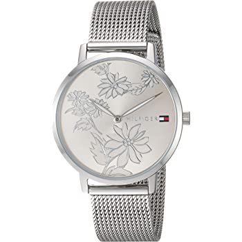 Tommy Hilfiger Women's Quartz Watch with Stainless-Steel Strap, Silver, 16 (Model: 1781920)