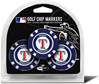MLB Golf Chip Ball Markers (3 Count), Poker Chip Size with Pop Out Smaller Double-Sided Enamel Markers