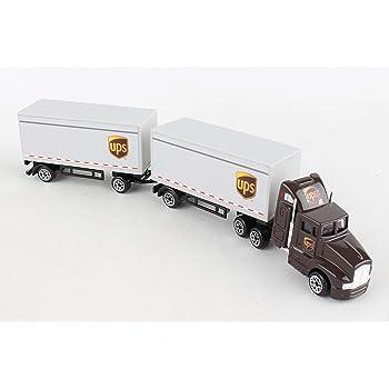 Kenworth W900 Excavator Flat Bed Trailer Truck Diecast 1:43 New Ray 16 inch k