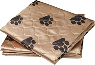 Washable Pee Pads For Dogs by PamperAPet - Reusable Pet and Puppy Training Mat - Waterproof Indoor Dog Potty Works As Whelping Crate Or Bed Pad - Helps Pets With Incontinence - Kennel Liners Bed Mats