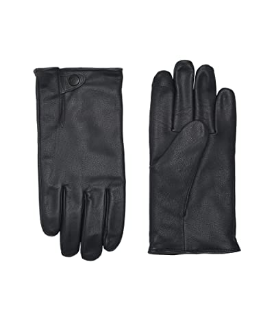 UGG Tabbed Splice Vent Leather Tech Gloves with Sherpa Lining (Navy) Extreme Cold Weather Gloves