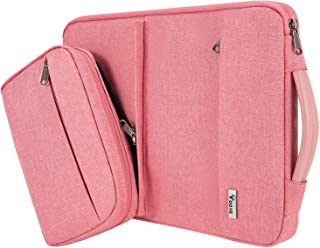 Voova Smart Laptop Sleeve Case Computer Carrying Bag with Attachable Seperate Accessory Pouch, Compatible with 13-13.3 inc...