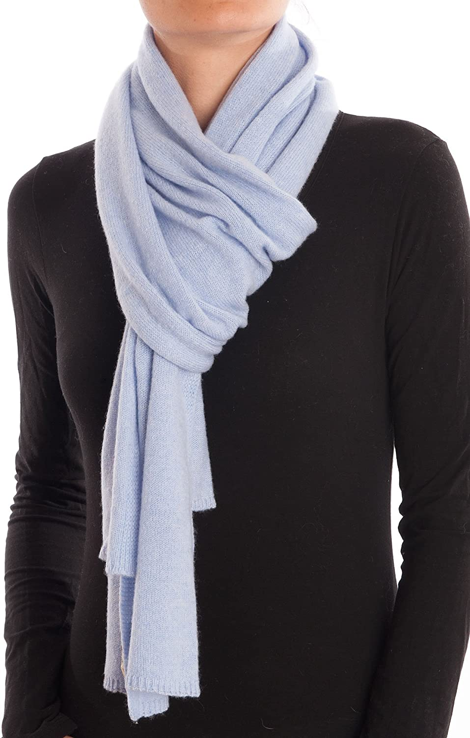 Dalle Piane Cashmere  Scarf 100% cashmere  Made in   Woman Man, color  Sky, One size