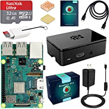 ABOX Raspberry Pi 3 B+ Complete Starter Kit with Model B Plus Motherboard 16GB Micro SD Card NOOBS, 5V 3A On/Off Power Sup...