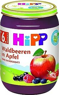 HiPP 喜宝 果泥 野生浆果苹果,6件装(6 x 190克)