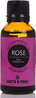 Rose Essential Oil 100% Pure, Undiluted, Natural And Therapeutic Grade With Glass Dropper - For Aromatherapy, Relaxation, Skin Therapy, Diffusers, Lotions, Soaps, Perfumes, Mist (30 ML/1 fl.oz)