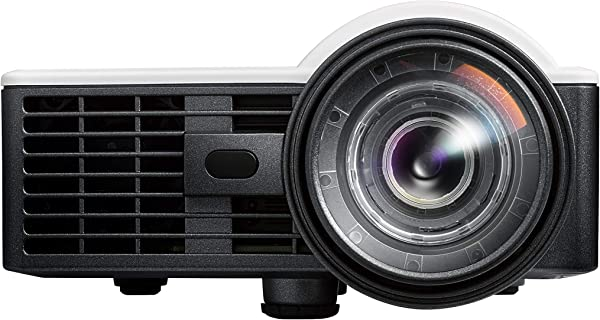 Optoma ML1050ST Portable LED WUXGA Support Mini Projector With Short Throw And Auto Focus For Office Presentations And Movies At Home Renewed