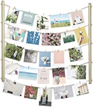 Umbra Brass Hangit Display-DIY Frames Collage Set Includes Picture Wire Twine Cords, Wall Mounts and Clothespin Clips for ...
