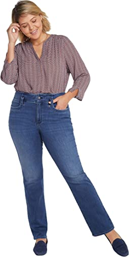 Plus Size High-Rise Marilyn Straight Jeans in Saybrook