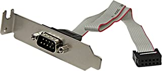 StarTech.com 9 Pin Serial Male to 10 Pin Motherboard Header LP Slot Plate - Serial panel - DB-9 (M) to 10 pin IDC (F) - 9....