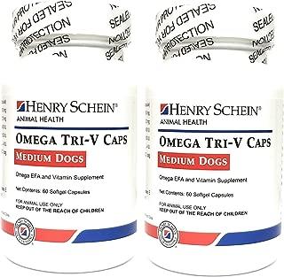 Butler-Schein Omega Tri-V Supplement for Medium Breeds 31-60 lbs, 60 Softgel Capsules, Pack of 2