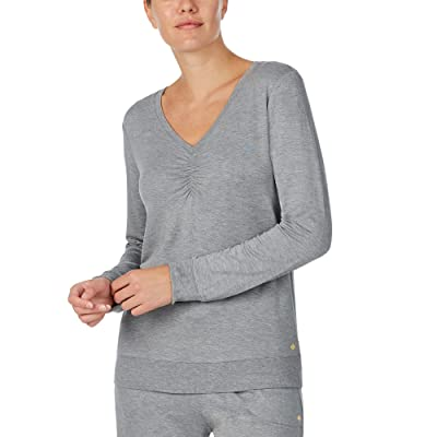 Kate Spade New York French Terry Long Sleeve Top (Heather Grey) Women