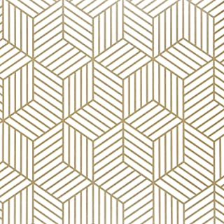 DWIND D9425 Hexagon Contact Paper Removable Peel and Stick Wallpaper Self Adhesive Film Wallpaper for Bedroom Livingrom Dé...