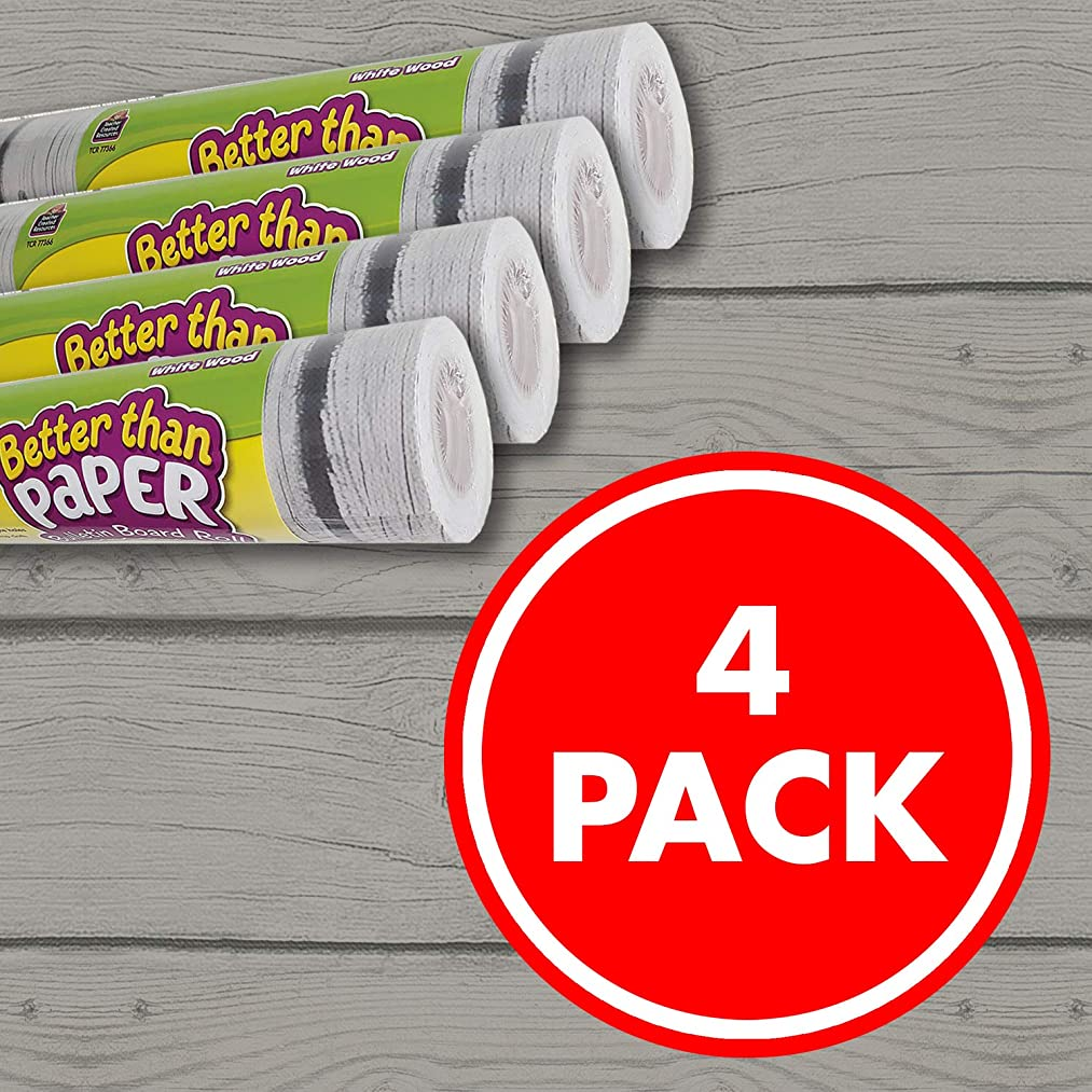White Wood Better Than Paper Bulletin Board Roll 4-Pack