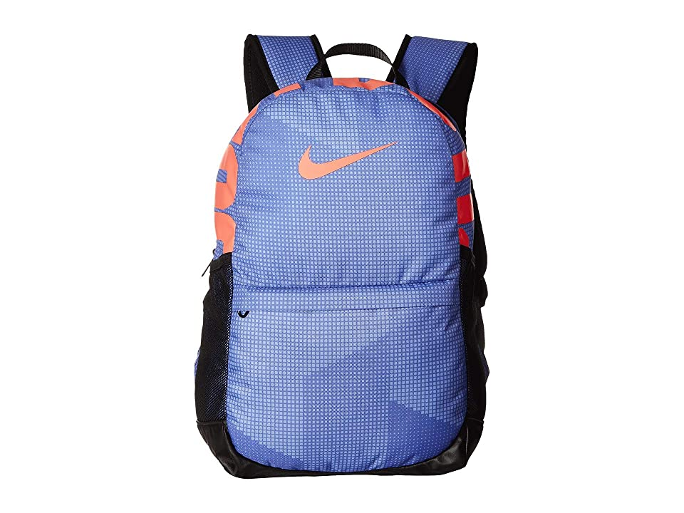 Nike Kids Brasilia Printed Backpack (Little Kids/Big Kids) (Rush Violet/Black/Lava Glow) Backpack Bags