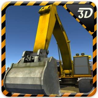 Heavy Construction Sand Excavator Crane Simulator