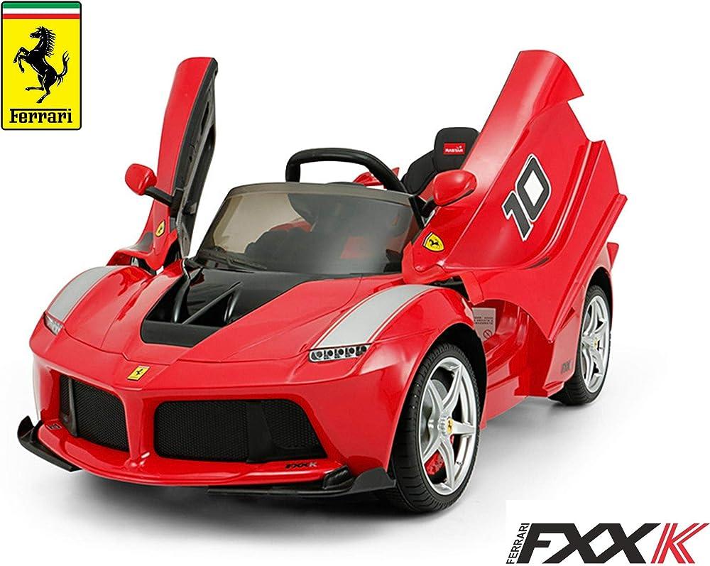 Mondial toys auto elettrica macchina per bambini 12v con telecomando ferrari 82700