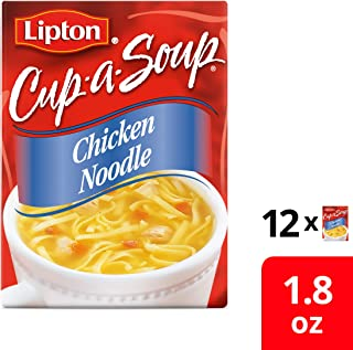 Lipton Instant Soup Mix, Chicken Noodle with White Meat, 1.8 oz (12 Pack)