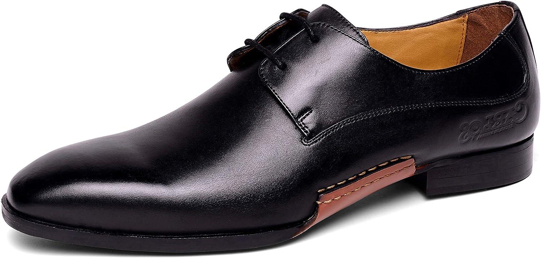 Carlos Santana Men's Havana Oxford Leather Designer Dress shoes Casual Fashion