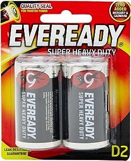 Eveready D2 Carbon Zinc Batteries, 2 Pieces - 1.5 Volt