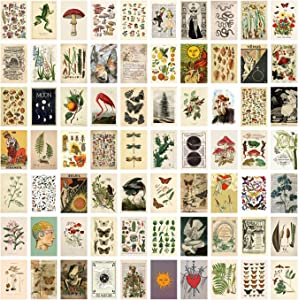 70PCS Wall Collage Kit Aesthetic Pictures, Vintage Photo Collage Kit for Wall Aesthetic, Posters Collage Kit Bedroom Decor for Teens Girls Boys, Dorm Trendy Wall Art (70 PCS 4x6 Inch)