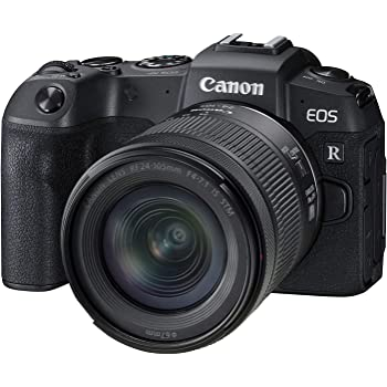Canon EOS RP Full-Frame Mirrorless Interchangeable Lens Camera + RF24-105mm Lens F4-7.1 is STM Lens Kit- Compact and Lightweight for Traveling and Vlogging, Black (3380C132)