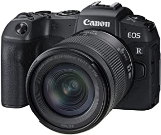 Canon EOS RP Full-frame Mirrorless Interchangeable Lens Camera + RF24-105mm Lens F4-7.1 IS STM Lens Kit-- Compact and Lightweight for Traveling and Vlogging, Black (3380C132)