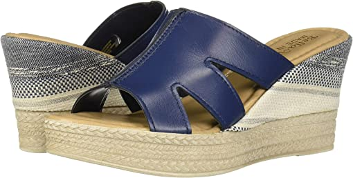 Navy Italian Leather
