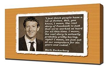 Mark Zuckerberg Quotes 1 - Canvas Art Print