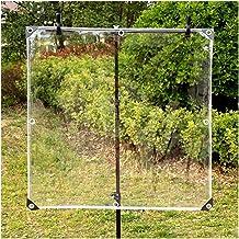 LIANGJUN Zware Tarps Transparant Waterdicht Geteerd zeildoek, PVC Zacht Glas, Open Balkon Winddicht En Stofdicht, 600g/㎡, ...