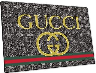 5d76ff7580 Kuader Tableaux Inspirés De Gucci Logo Impression sur Toile d'un Tableau  Art Moderne Dècoration