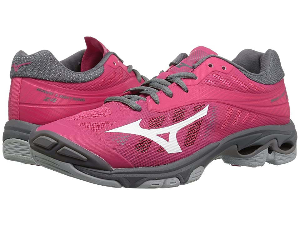 Mizuno Wave Lightning Z4 (Azalea/Charcoal) Girls Shoes