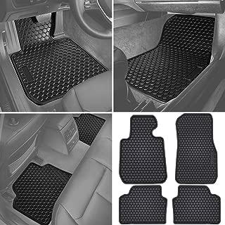 E-cowlboy Floor Mat Liner for BMW 3 Series F30 320i 328i 335i 2012~2018 & 2015+ F80 M3 Heavy Duty Rubber Front+Rear Car Carpet Waterproof Custom Fit - All Seasons Odorless (Black)